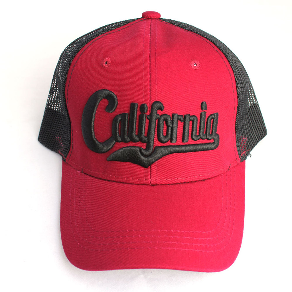 Maroon ad Black California Hat