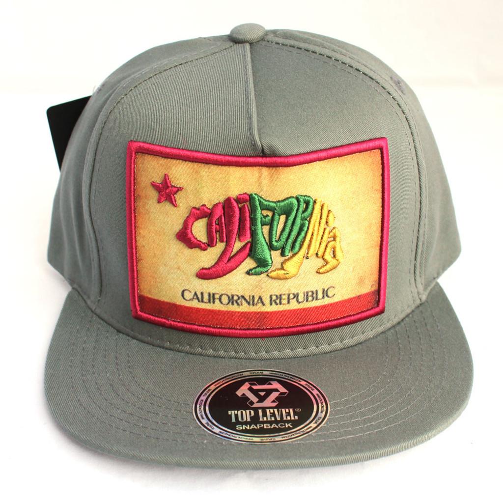 California Republic Patch Dark Gray Hat