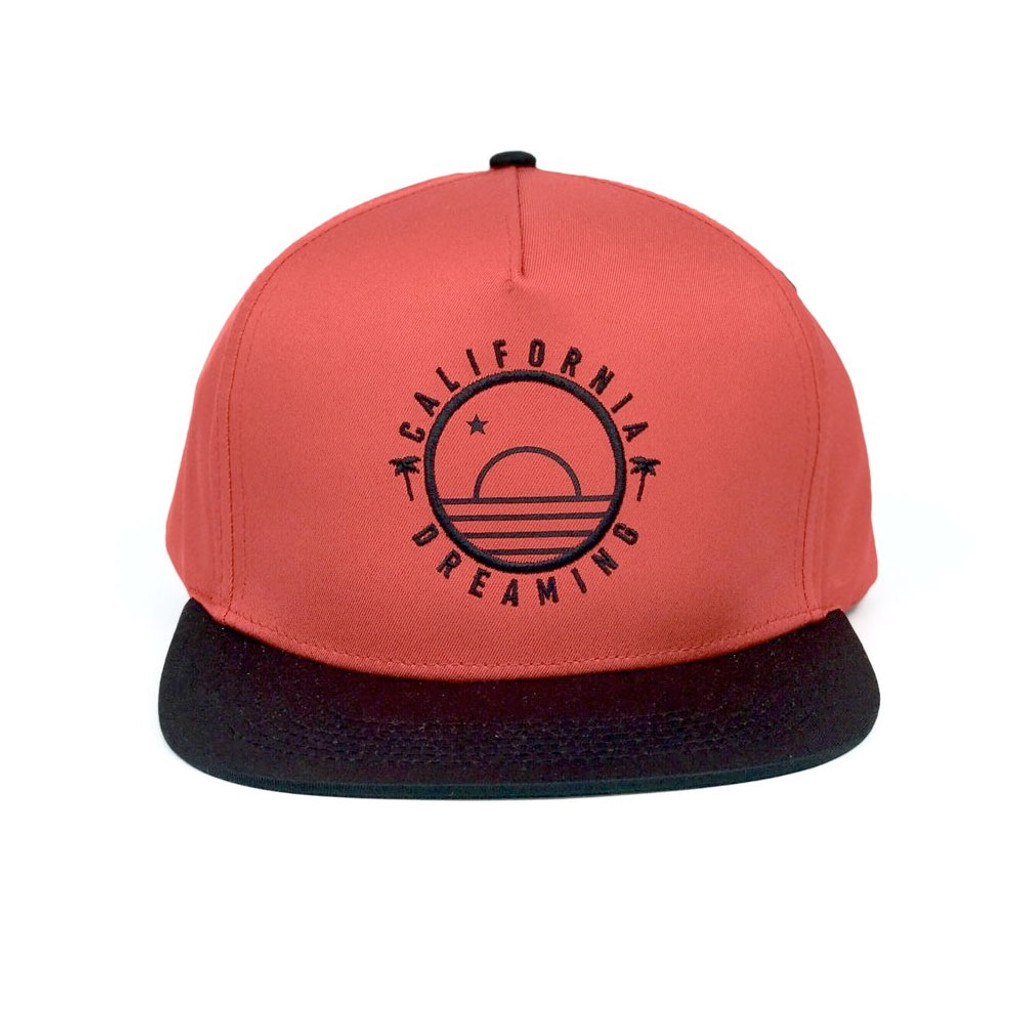 Red and Black California Sunrise Hat