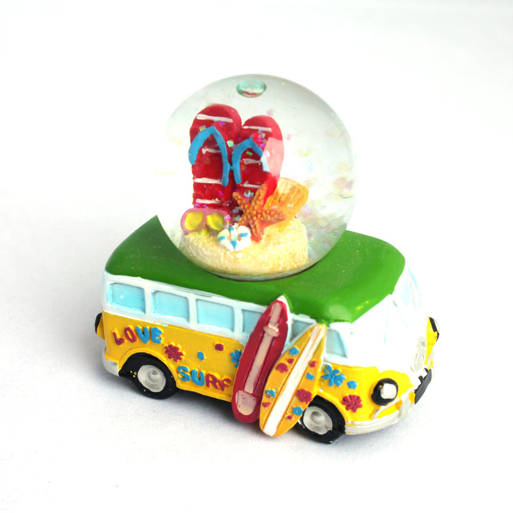 Mini VW Bus Flip Flops Snow Globe