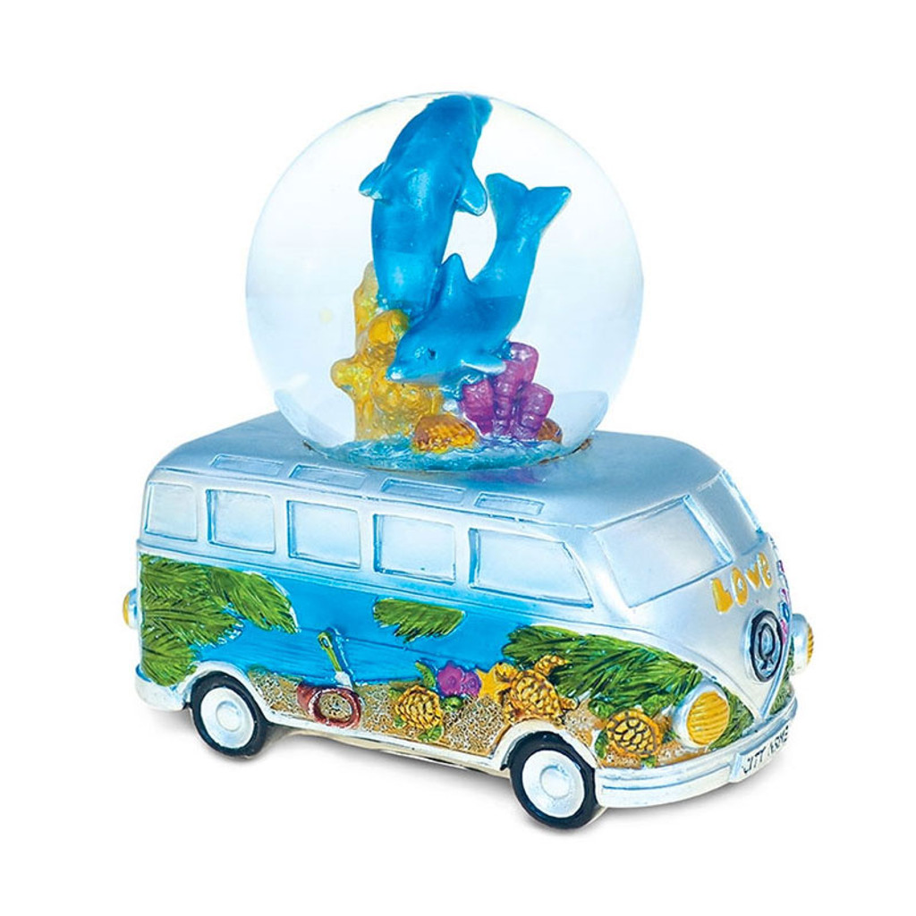 VW Bus Dolphins Snow Globe