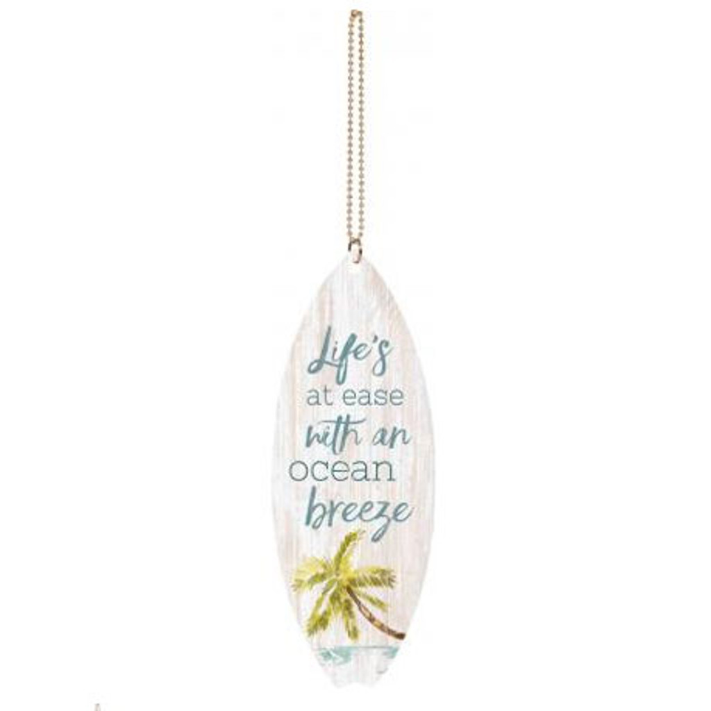 Life's at Ease with an Ocean Breeze Car Charm