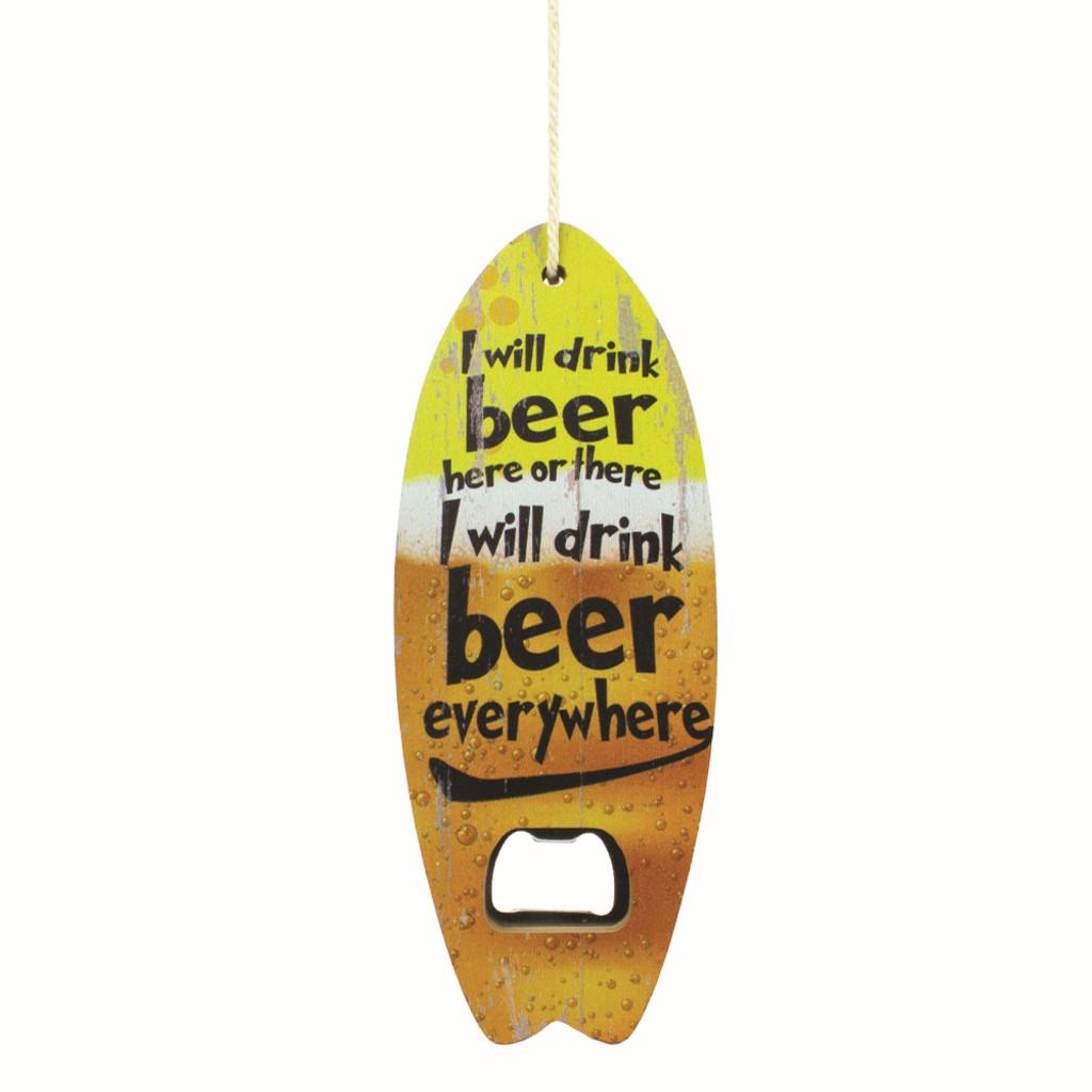 Beer Everywhere - Wood Hanging Bottle Opener