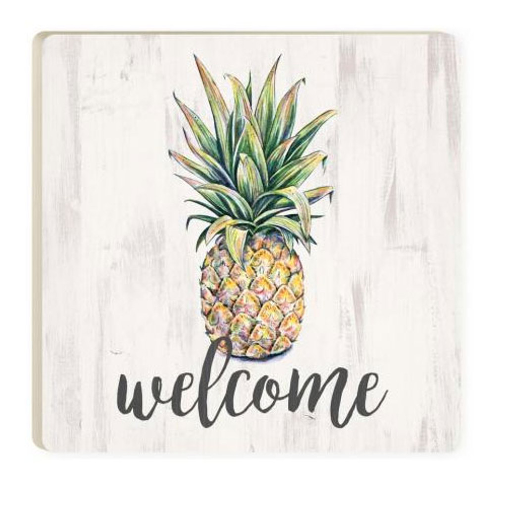 Welcome Pineapple Coaster