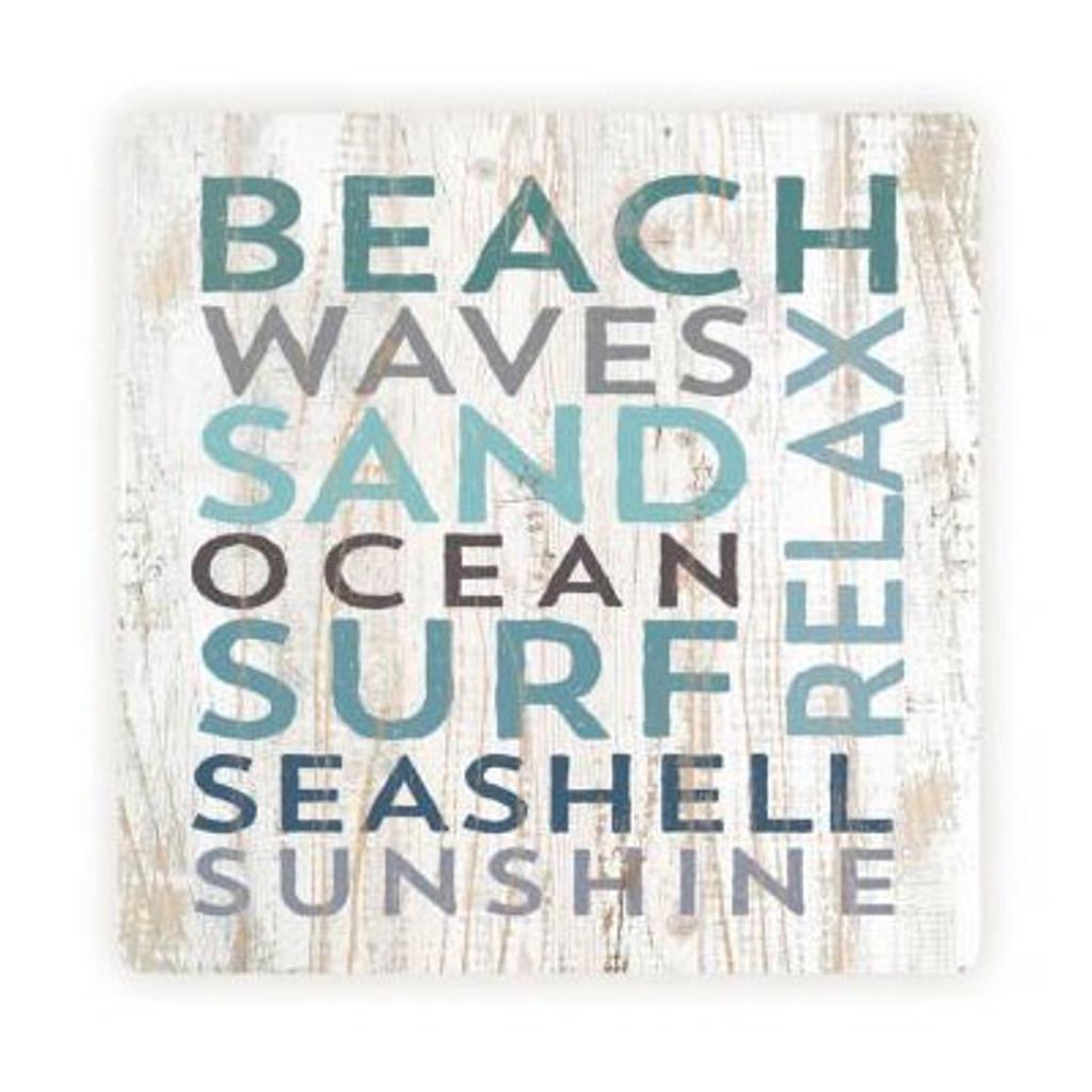 Beach Waves Word Coaster