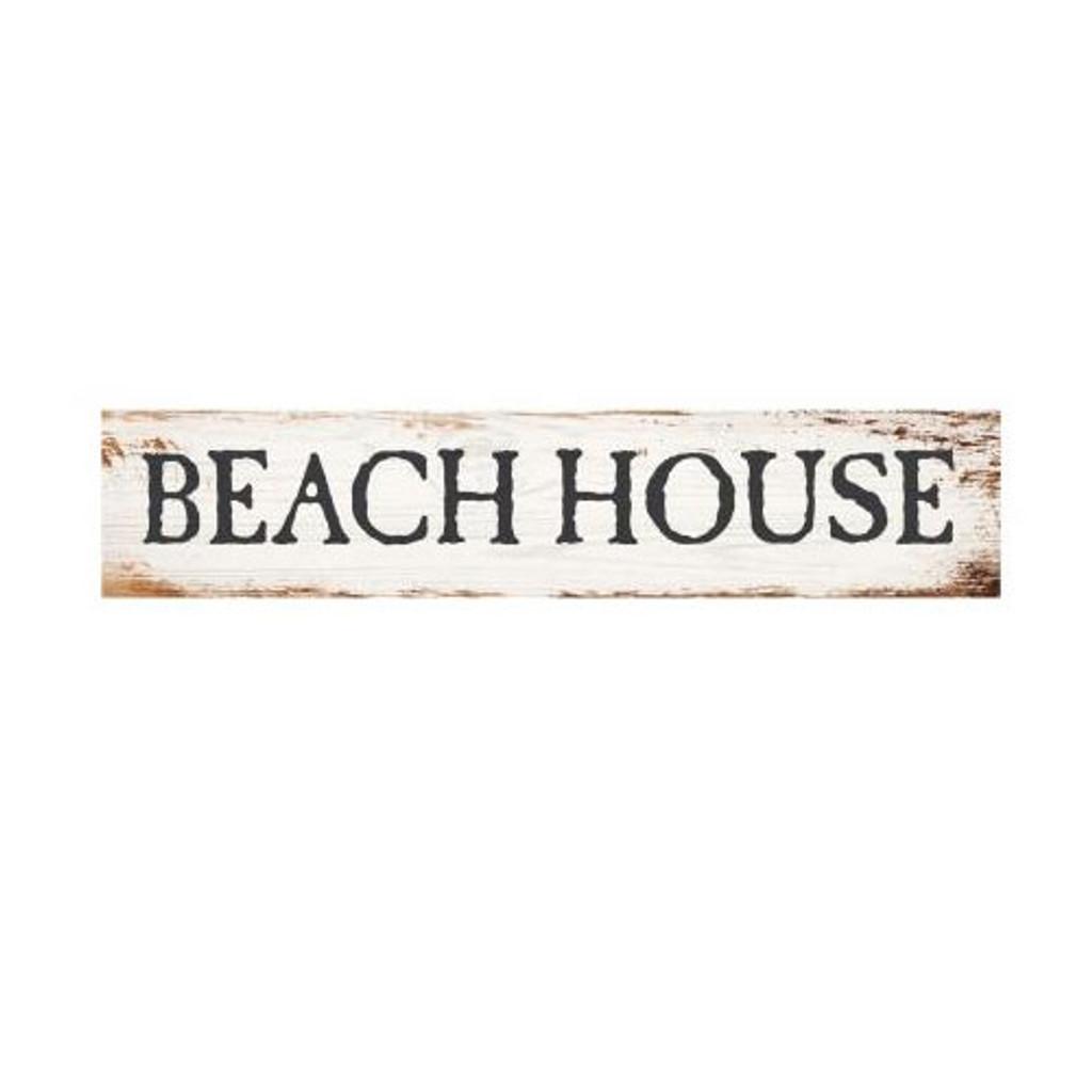Beach House Block Sign