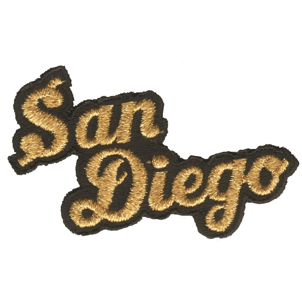 San Diego Gold on Black Patch