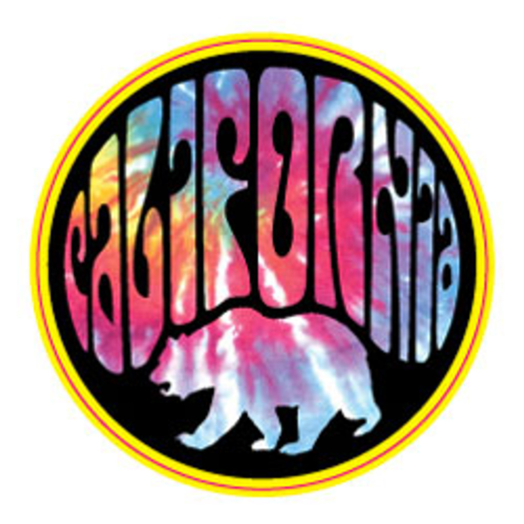 California Bear Circle City Sticker - 2 Dozen (6 Colors)