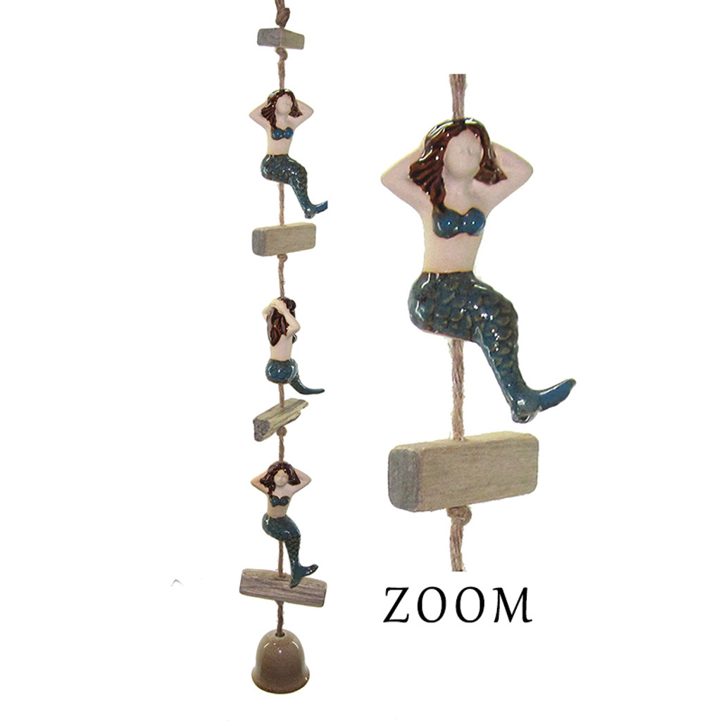 Ceramic Mermaid Dangler