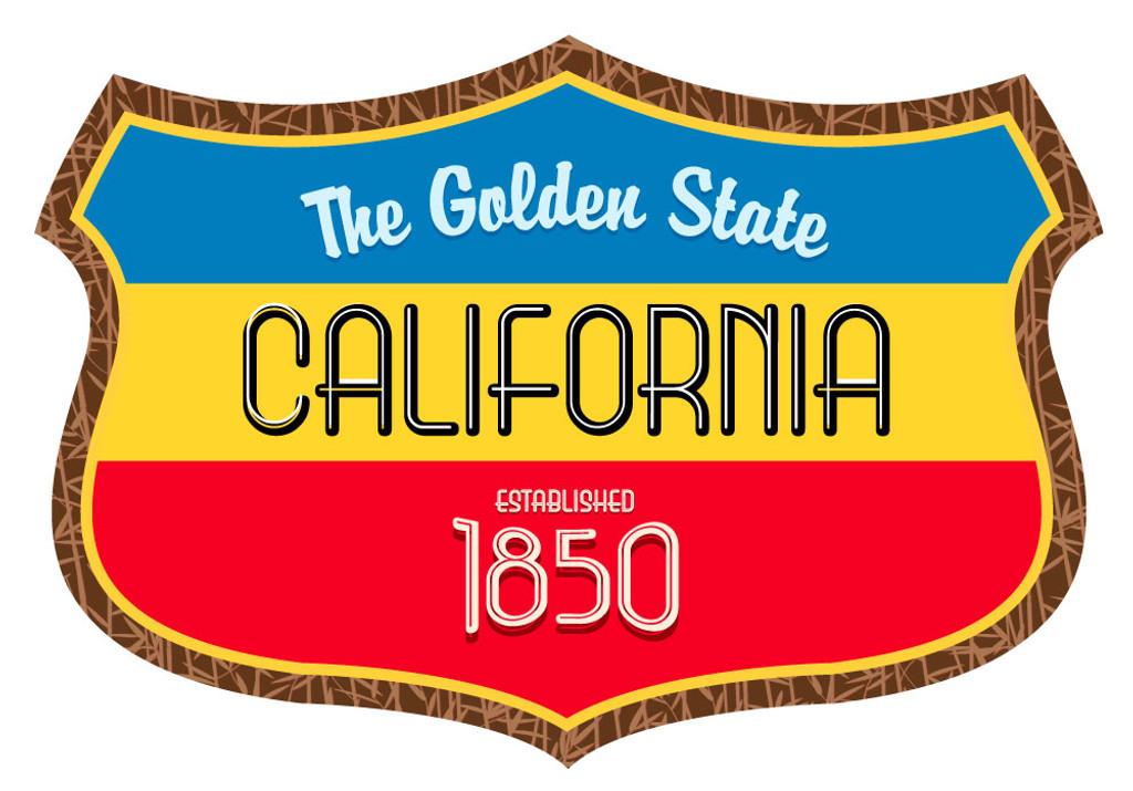 California The Golden State Shield