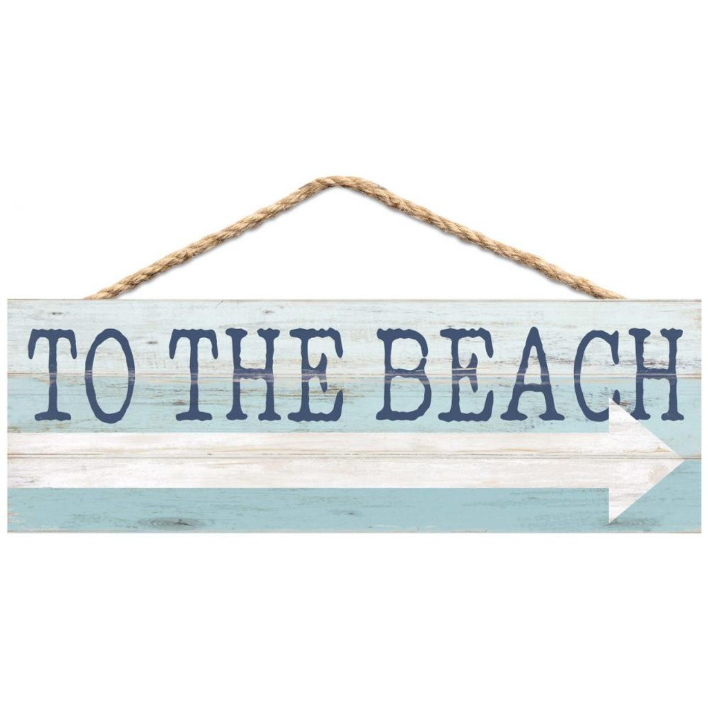 To the Beach Arrow Rope Sign