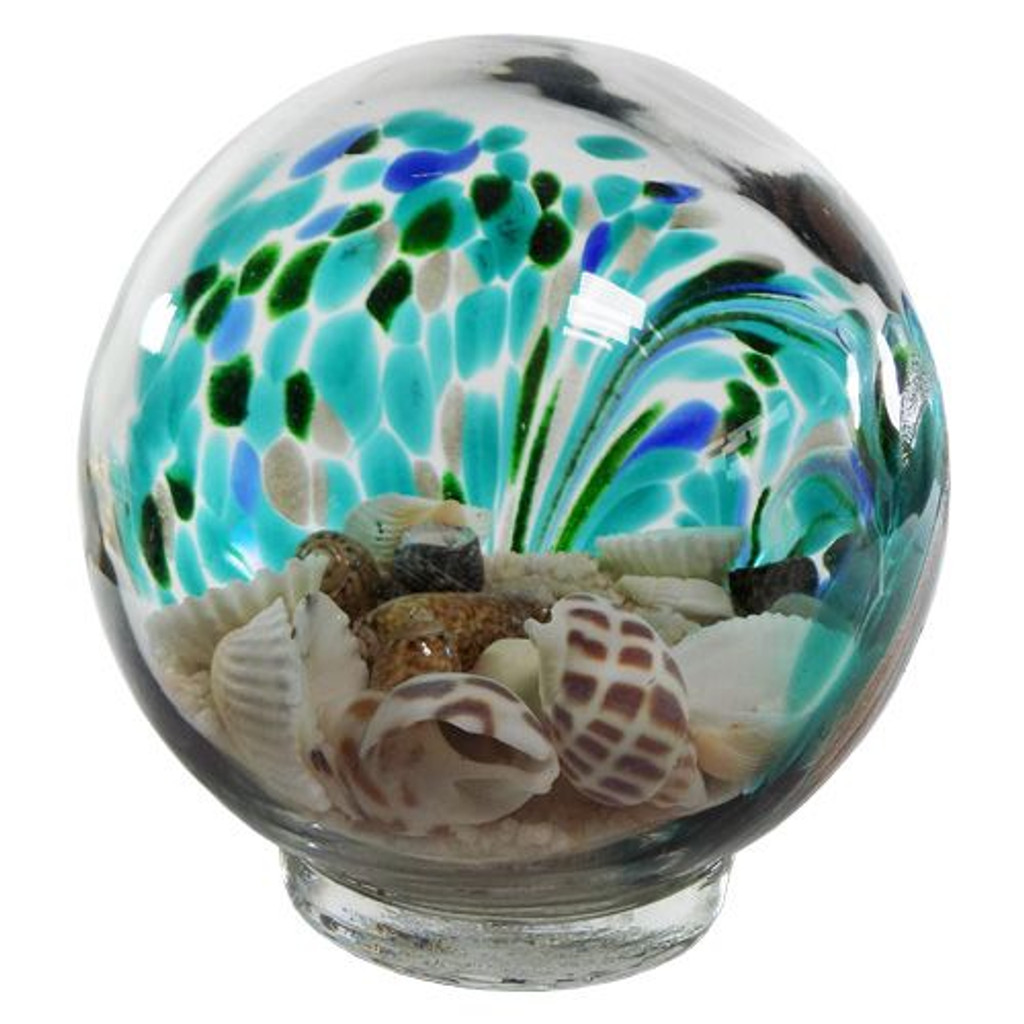 Sand & Shells Glass Globe