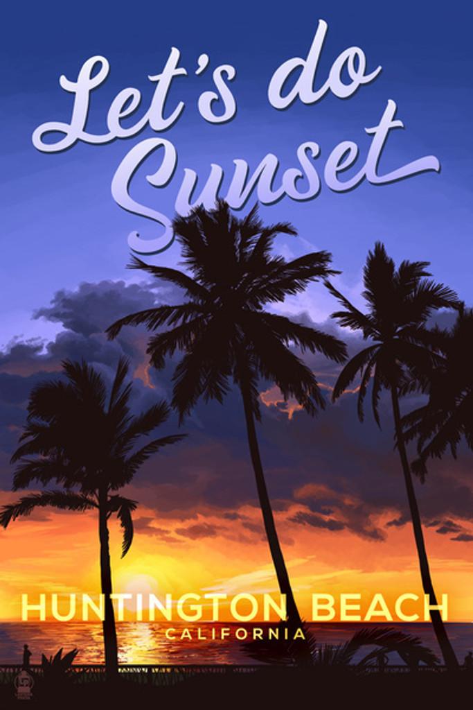 Huntington Beach Let's Do Sunset Car Coaster