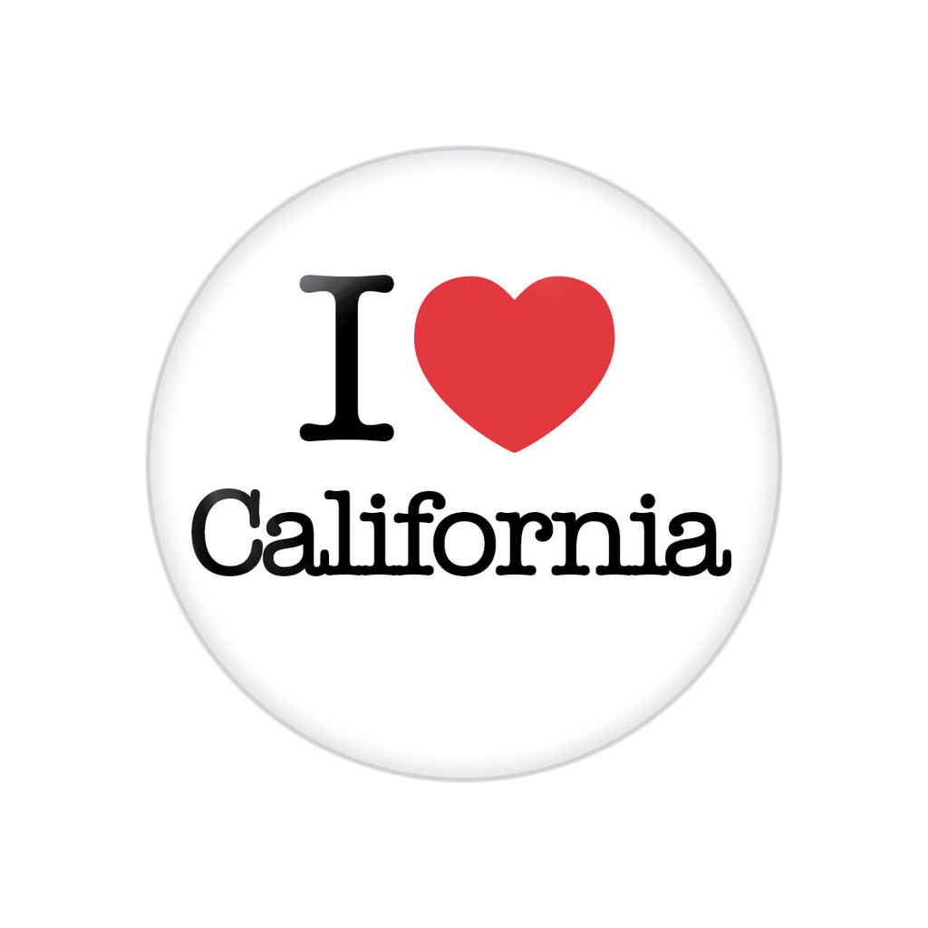 """I Heart California 1.25"""" Button"""