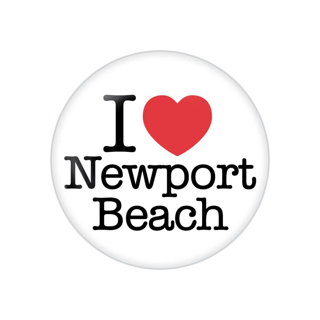 I Heart Newport Beach Button