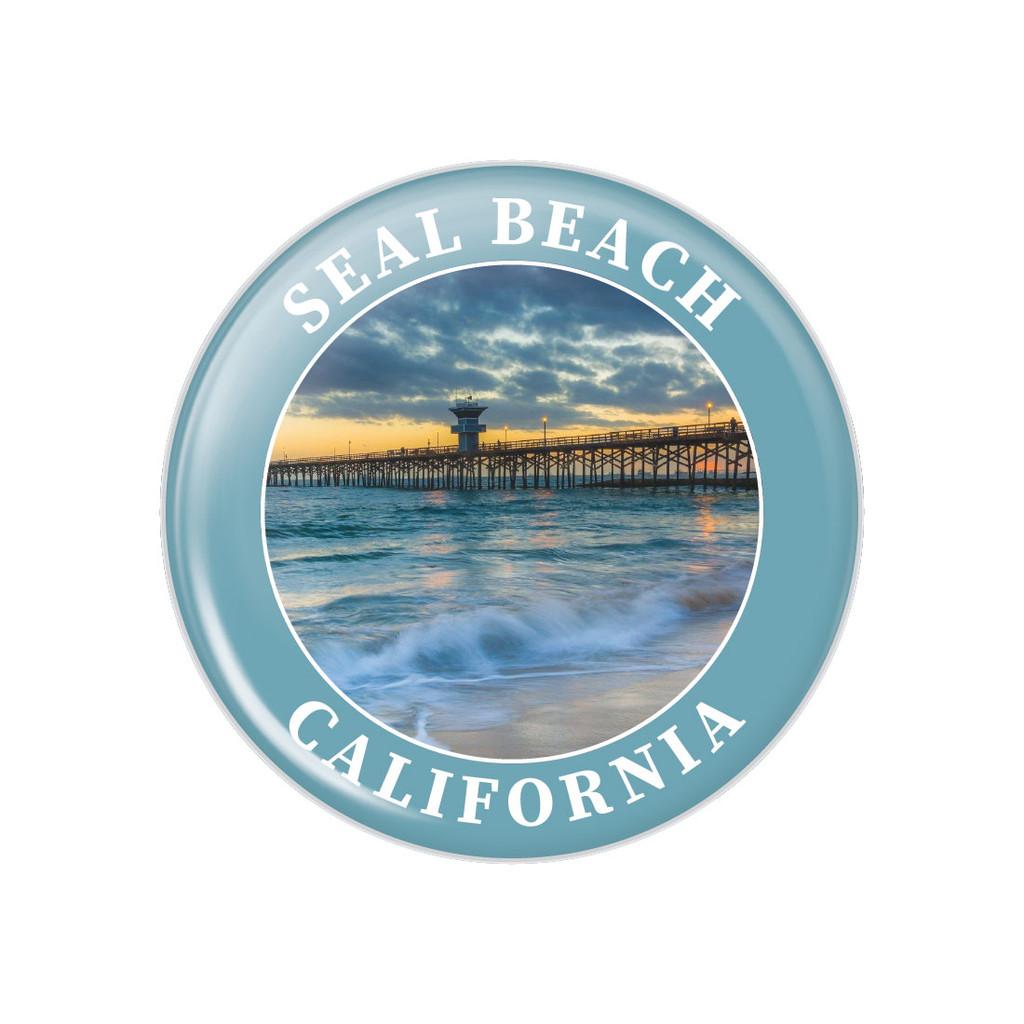 Seal Beach Pier Button