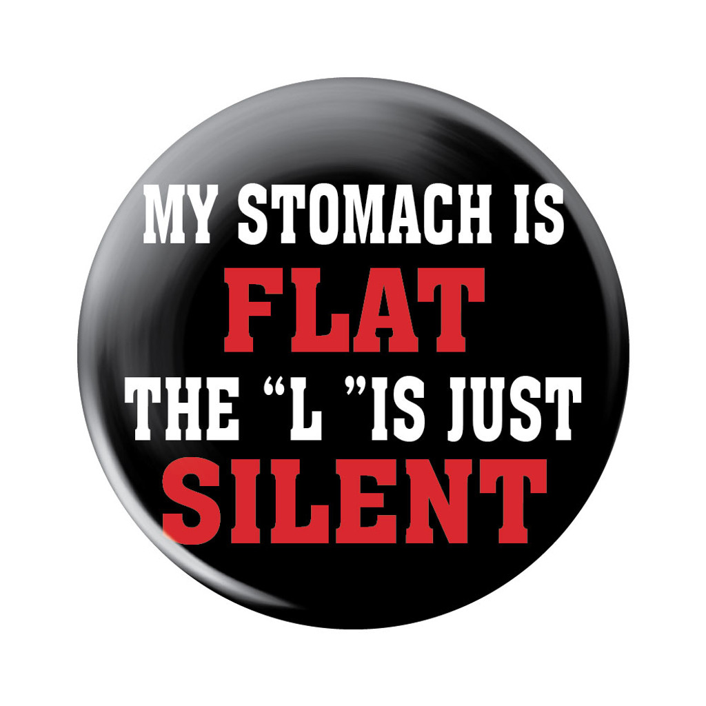 My Stomach is Flat Button