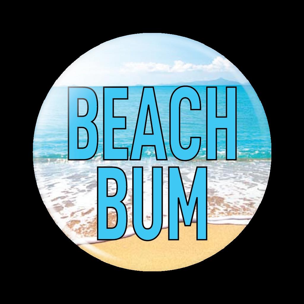 Beach Bum Button