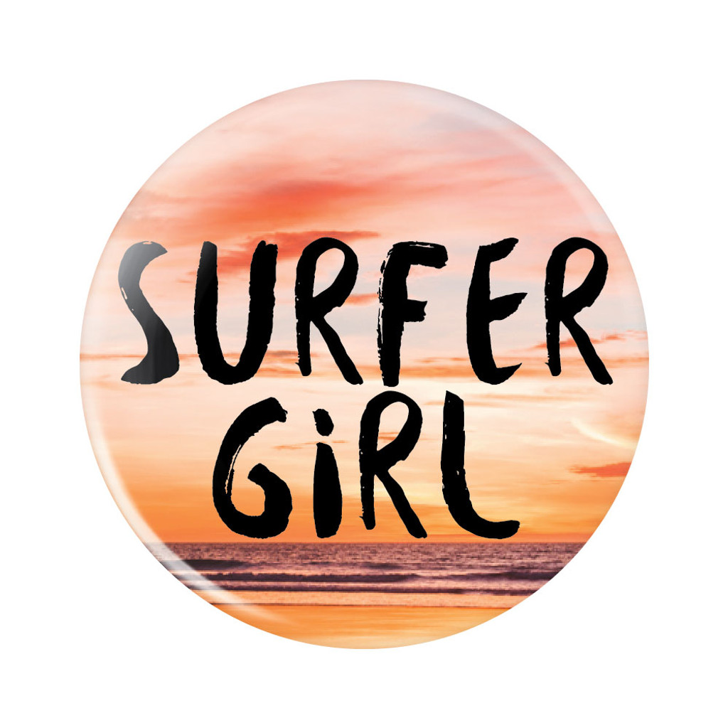 Surfer Girl Button
