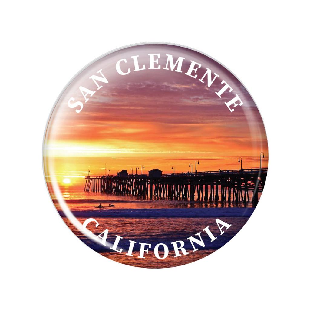 San Clemente Pier Magnet