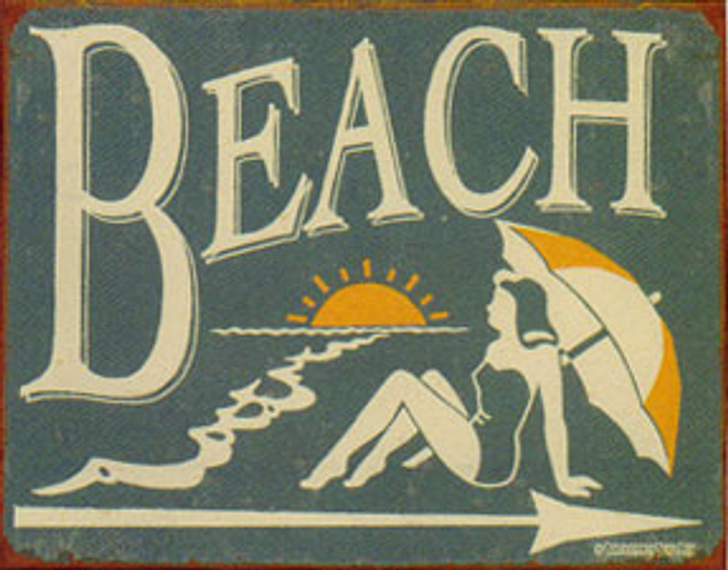 Schonberg Beach Metal Sign