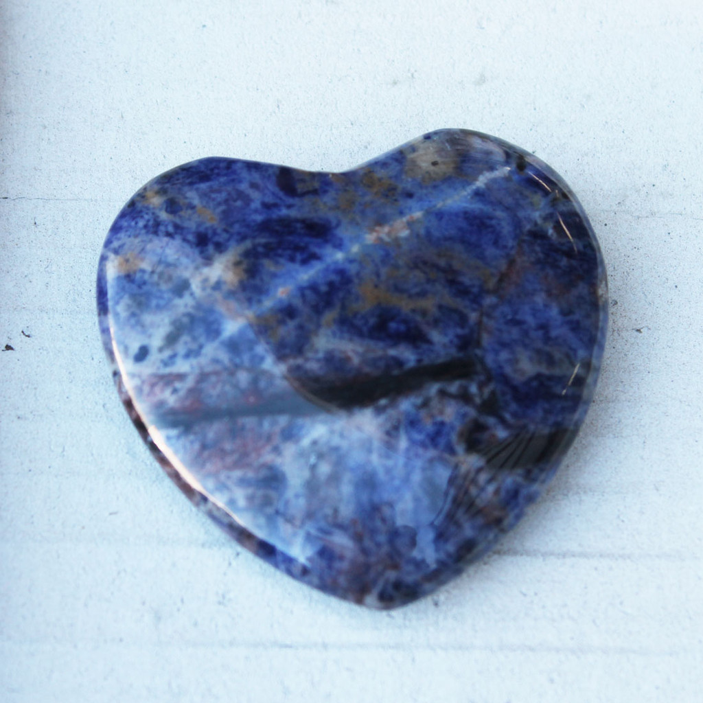Blue Gemstone Heart