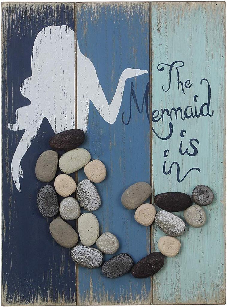 The Mermaid is In Pebble Art