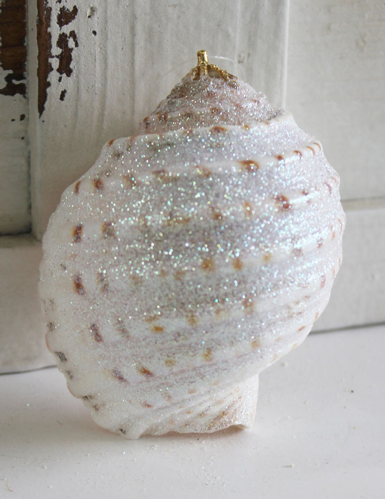 Large Spotted Tona Glitter Ornament - Made in Huntington Beach, California, USA