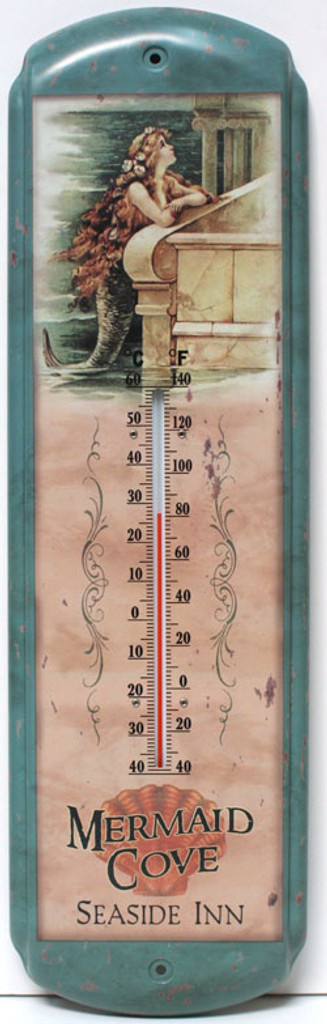 Metal Mermaid Thermometer