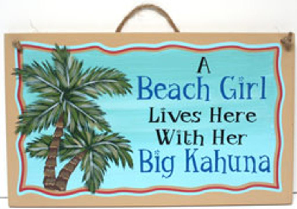 A Beach Girl Lives Here with Her Big Kahuna