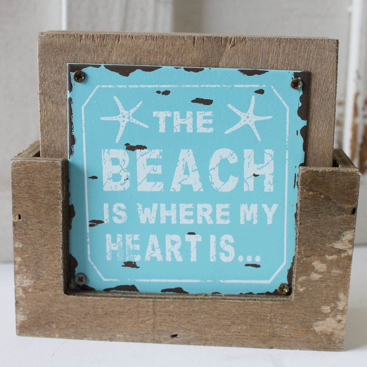 Farmhouse Coasters Set of 4 The Beach is Calling and I Must go PERSONALIZED beach coasters Beach Coaster Set Beach Name