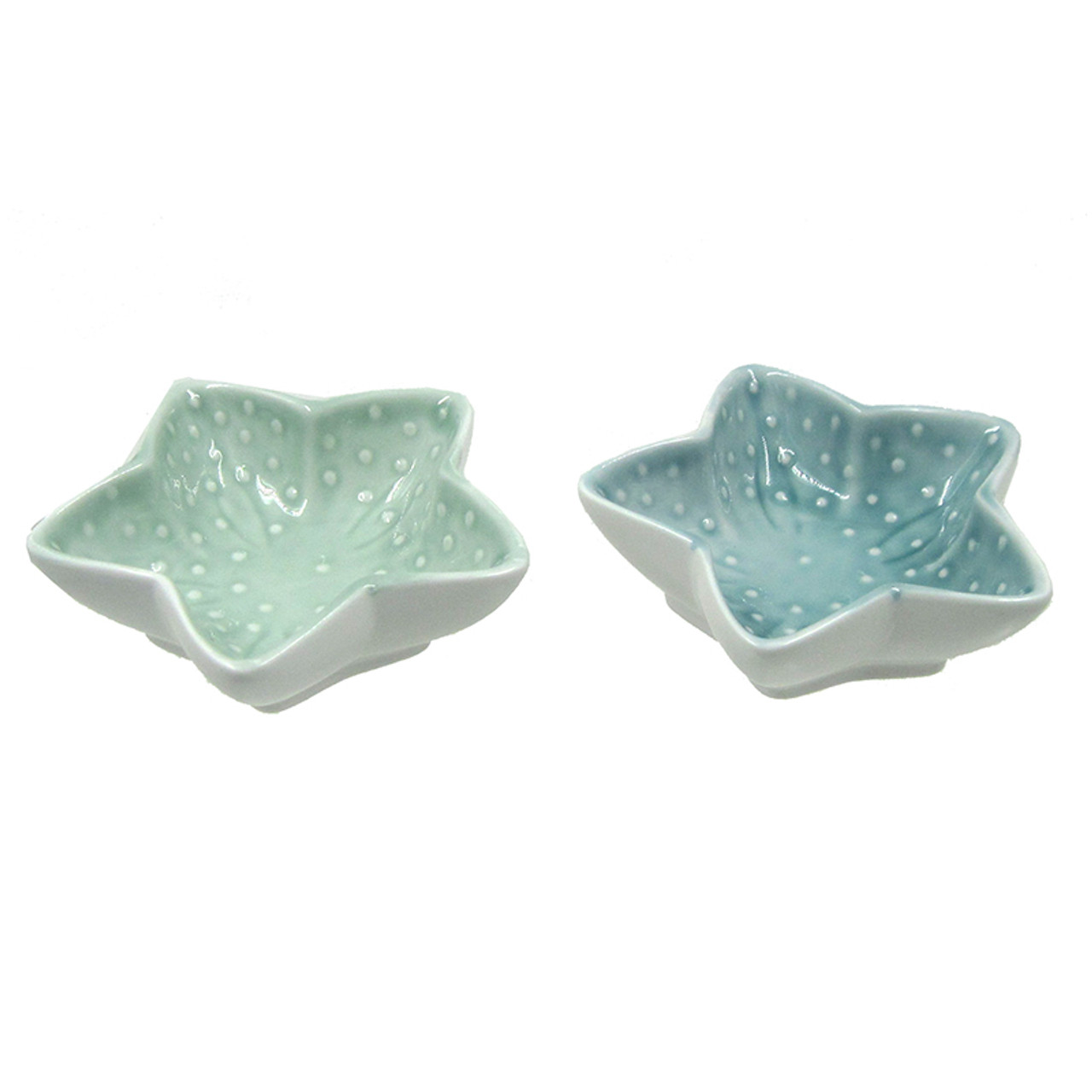 Ceramic Starfish Bowl Coastal Appetizer Dish Nautical Kitchen Decor California Seashell Company