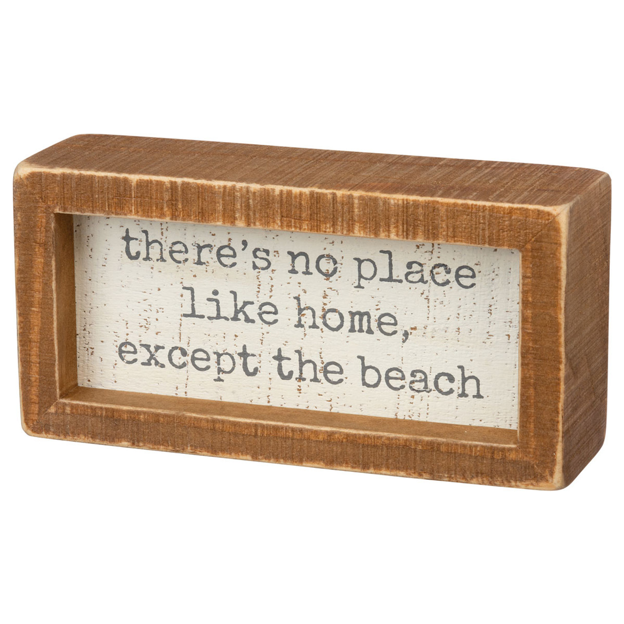 """8"""" x 8"""" I LOVE YOU TO THE BEACH AND BACK Primitives by Kathy Slat Photo Frame"""