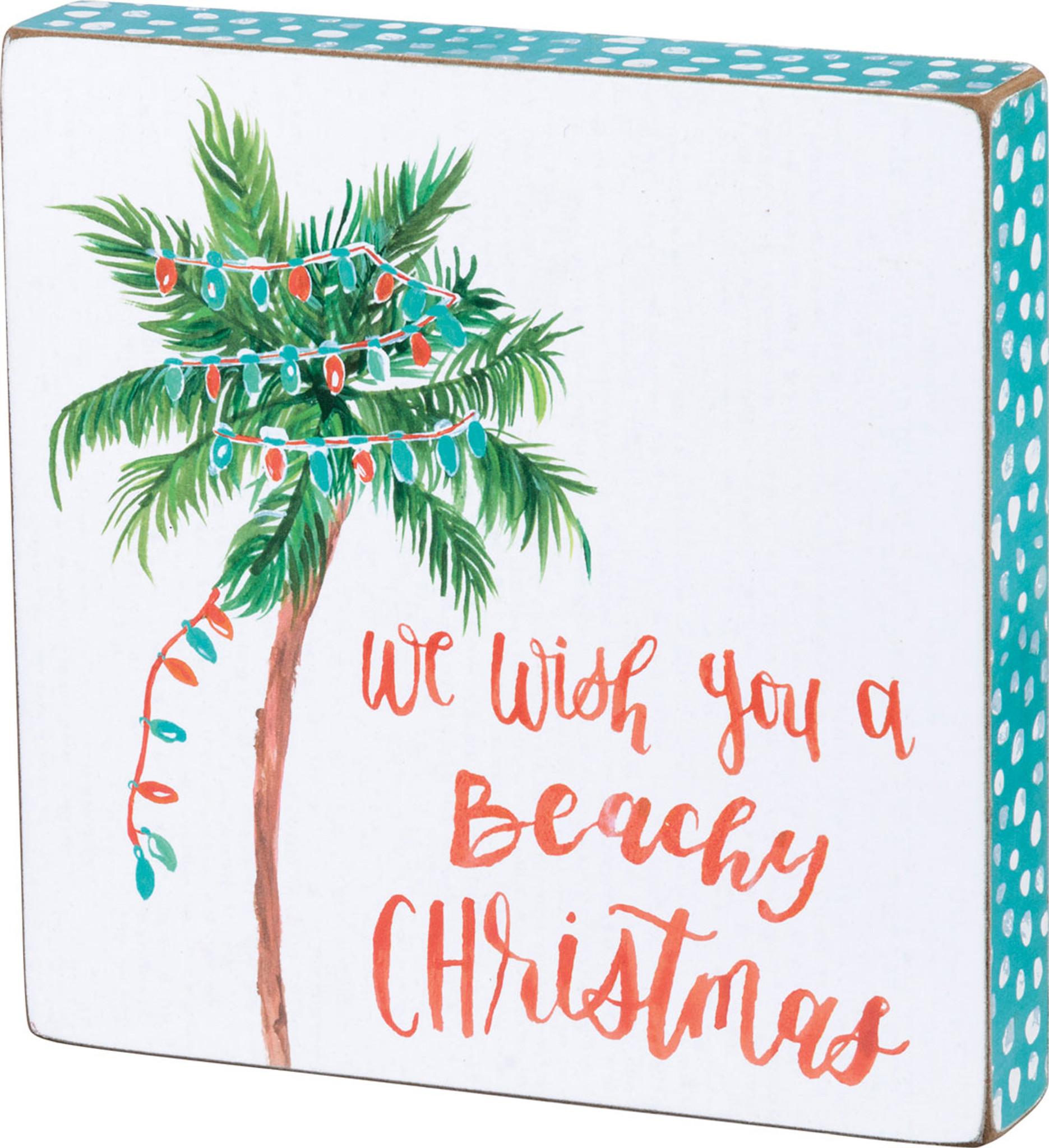 Beachy Christmas Palm Tree Coastal Holiday Decor Primitives By