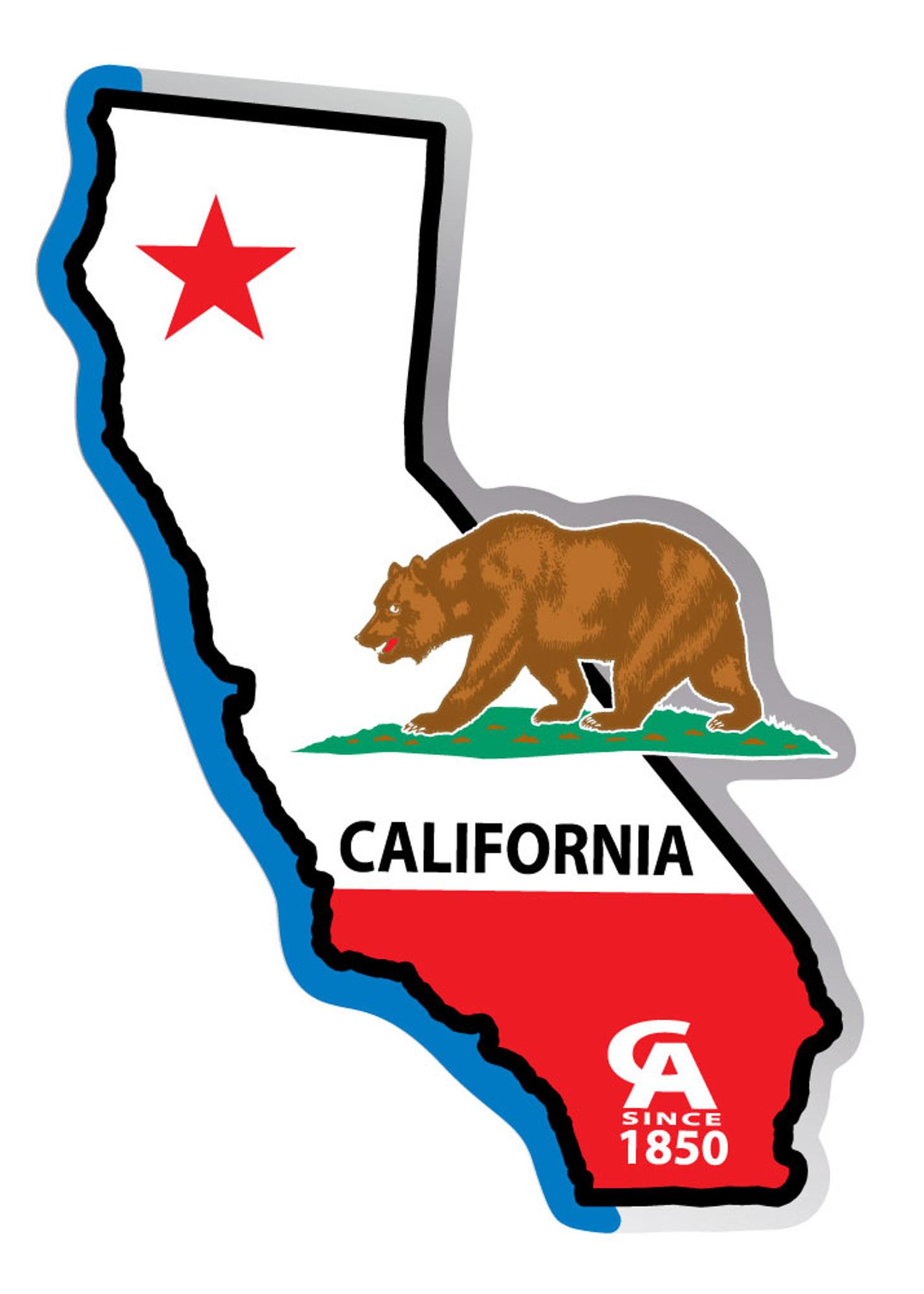 42435f824b47c California Flag State Cutout Sticker - 1 Dozen