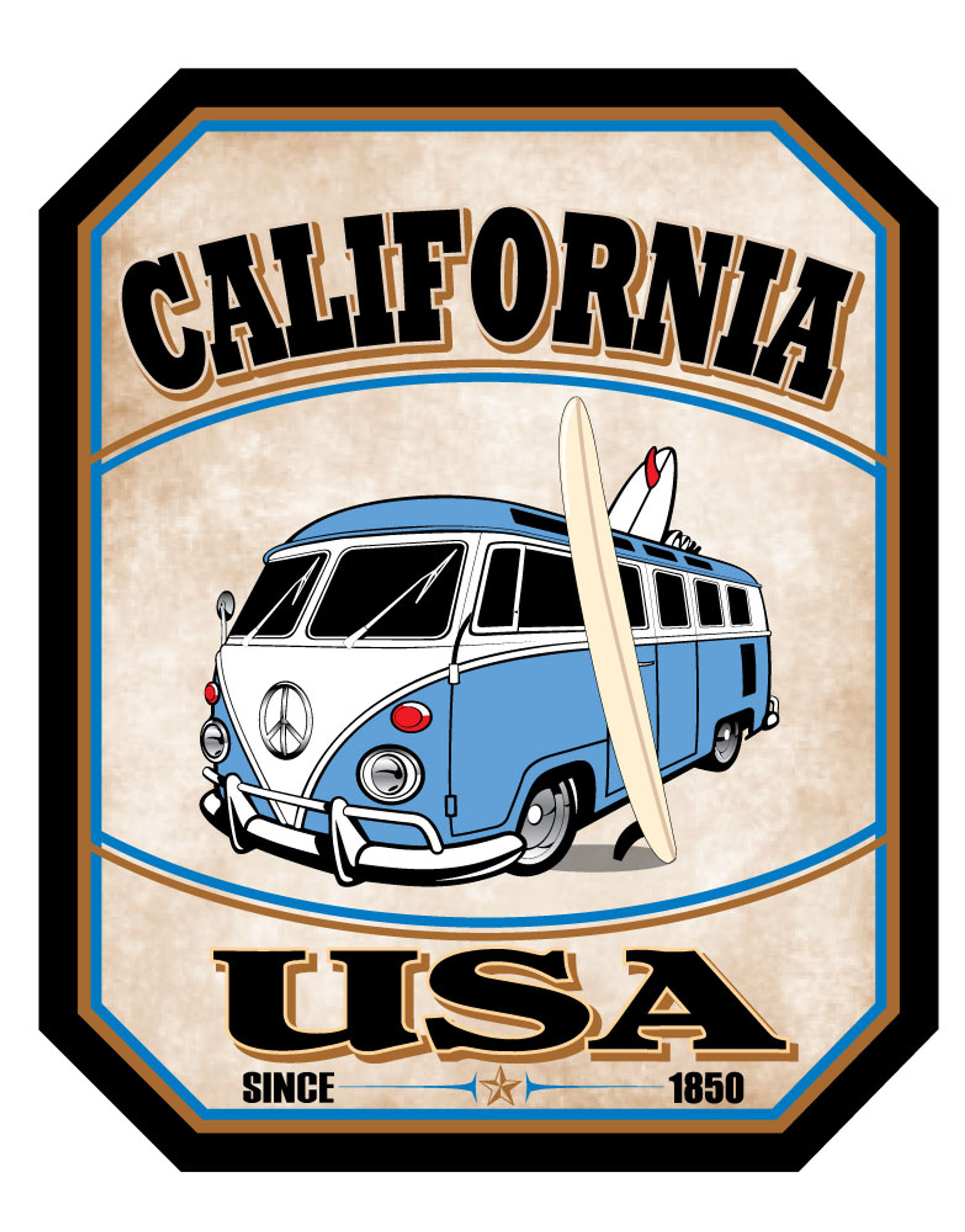 California PCH Bus Sticker - 1 Dozen