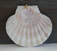 Large Irish Flat Glitter Seashell Ornament