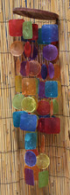 Rainbow Circle and Square Capiz Chimes