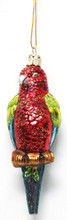 Blown Glass Parrot Ornament