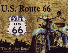 The Mother Road Metal Sign