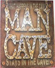 Man Cave! Metal Sign