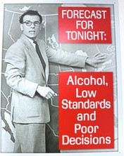 Forecast... Alcohol Metal Sign