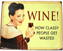 Wine! Metal Sign
