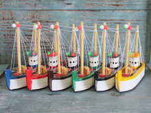 Set of 6 Colors Shrimping Boats