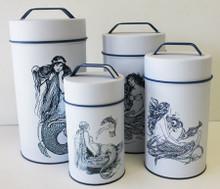 Mermaid Cylinder Tins (Food Safe) - Set of 4