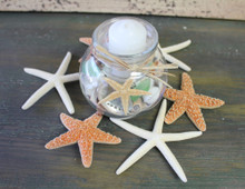 Top View of candle with starfish