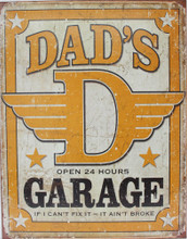 Dad's Garage Metal Sign