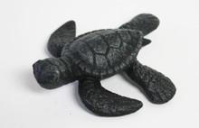 Green Iron Sea Turtle Figure