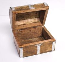 "Medium Wood Treasure Chest Box - 4"""