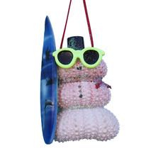 Pink Urchin Surfer Ornament